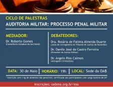 OAB–MA promove Ciclo de Palestras sobre Auditoria Militar